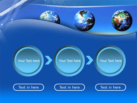 Globes Over The Sea PowerPoint Template Slide 5