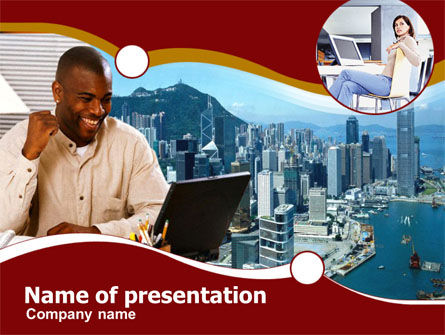 Modern Communication PowerPoint Template, 00334, People — PoweredTemplate.com