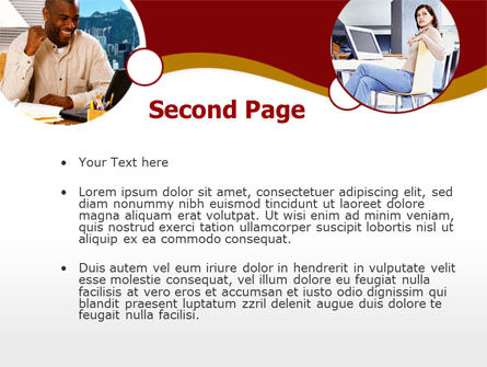 Modern Communication PowerPoint Template, Slide 2, 00334, People — PoweredTemplate.com