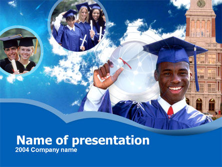 Commencement PowerPoint Template, 00335, Education & Training — PoweredTemplate.com