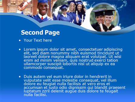 Commencement PowerPoint Template, Slide 2, 00335, Education & Training — PoweredTemplate.com