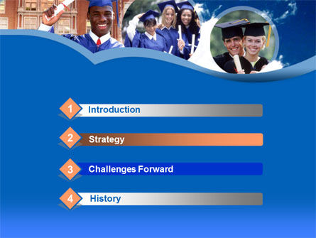 Commencement PowerPoint Template, Slide 3, 00335, Education & Training — PoweredTemplate.com