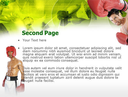 Boxing PowerPoint Template, Slide 2, 00337, Sports — PoweredTemplate.com