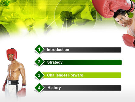 Boxing PowerPoint Template, Slide 3, 00337, Sports — PoweredTemplate.com