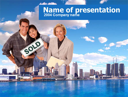 Real Estate: Big City Real Estate Agency Activity PowerPoint Template #00338