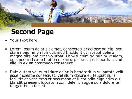 Peak Of Success PowerPoint Template, Slide 2, 00340, Business — PoweredTemplate.com