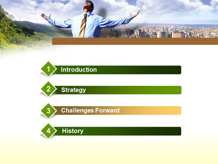 Peak Of Success PowerPoint Template, Slide 3, 00340, Business — PoweredTemplate.com