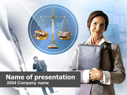 Lady Lawyer PowerPoint Template, 00341, Legal — PoweredTemplate.com