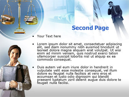Lady Lawyer PowerPoint Template, Slide 2, 00341, Legal — PoweredTemplate.com