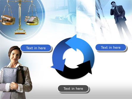 Lady Lawyer PowerPoint Template Slide 9