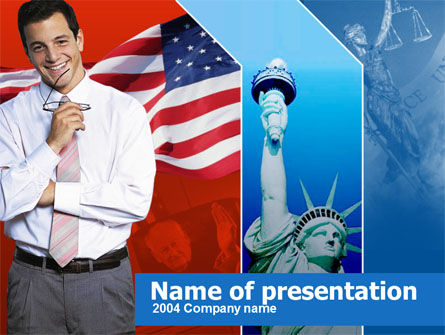 Legislation of America PowerPoint Template, 00342, America — PoweredTemplate.com