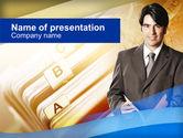 Business: Modèle PowerPoint de travail de bureau #00343