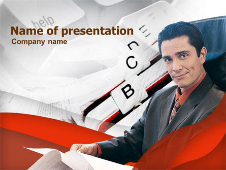 Businessman At Work PowerPoint Template, 00344, Business — PoweredTemplate.com