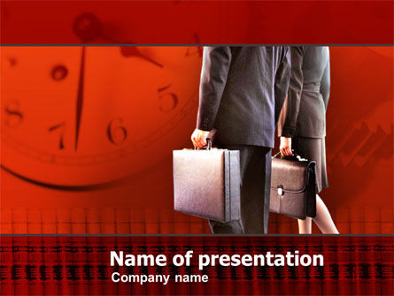 Business Women Business Man PowerPoint Template, 00345, Business Concepts — PoweredTemplate.com