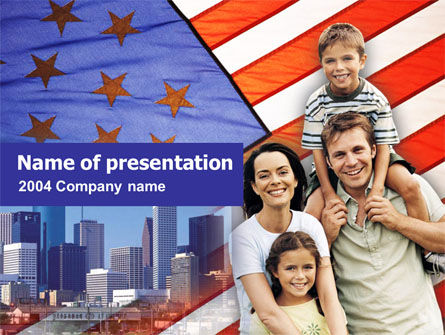 American Flag Day PowerPoint Template, 00347, America — PoweredTemplate.com