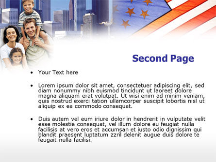 American Flag Day PowerPoint Template, Slide 2, 00347, America — PoweredTemplate.com