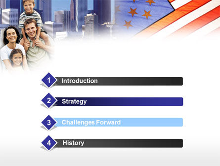 American Flag Day PowerPoint Template, Slide 3, 00347, America — PoweredTemplate.com