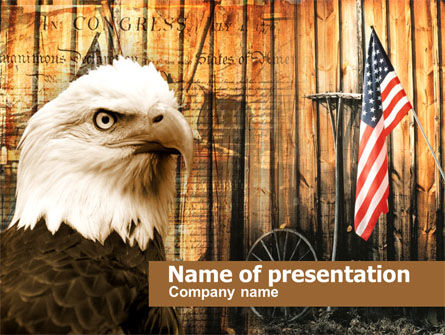 Patriotic PowerPoint Template, 00348, America — PoweredTemplate.com