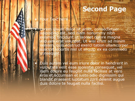 Patriotic PowerPoint Template, Slide 2, 00348, America — PoweredTemplate.com