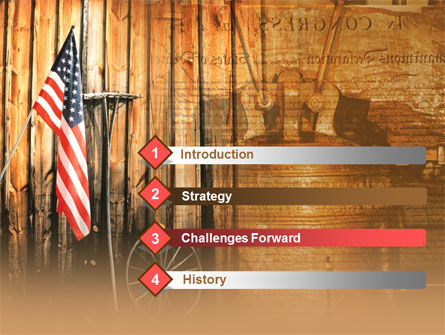 Patriotic PowerPoint Template, Slide 3, 00348, America — PoweredTemplate.com