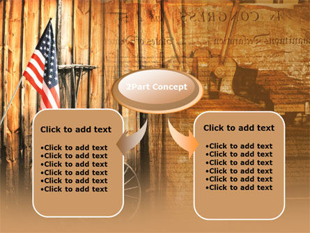 Patriotic PowerPoint Template, Slide 4, 00348, America — PoweredTemplate.com