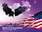America: Modelo do PowerPoint - águia americana #00349