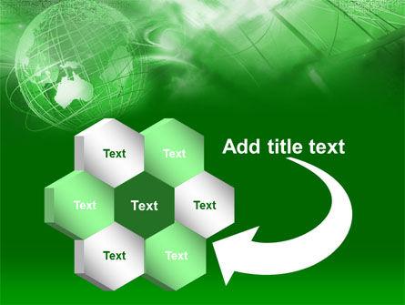 Globe in Communications Net PowerPoint Template Slide 11