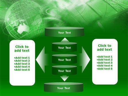Globe in Communications Net PowerPoint Template Slide 13