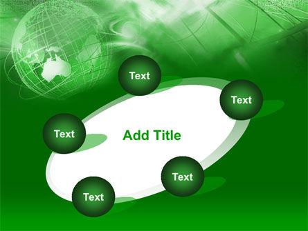 Globe in Communications Net PowerPoint Template Slide 14