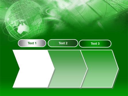 Globe in Communications Net PowerPoint Template Slide 16