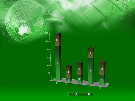 Globe in Communications Net PowerPoint Template Slide 17