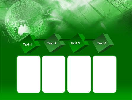 Globe in Communications Net PowerPoint Template Slide 18