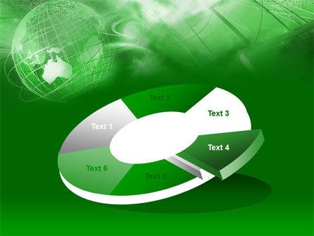 Globe in Communications Net PowerPoint Template Slide 19