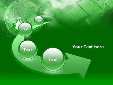 Globe in Communications Net PowerPoint Template Slide 6
