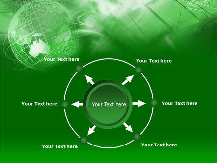 Globe in Communications Net PowerPoint Template Slide 7