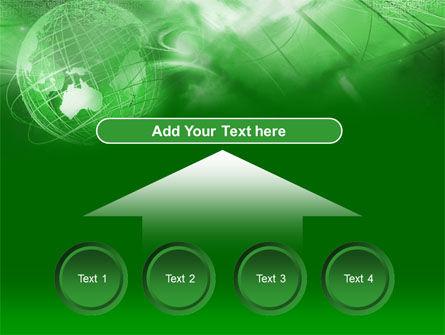 Globe in Communications Net PowerPoint Template Slide 8