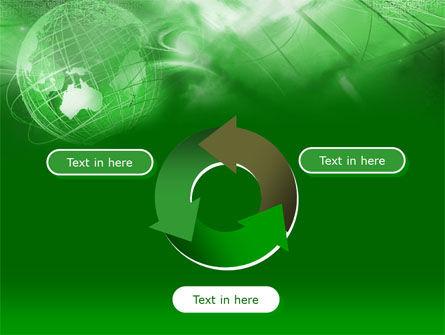 Globe in Communications Net PowerPoint Template Slide 9