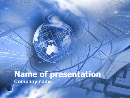 Global Communication PowerPoint Template, 00351, Abstract/Textures — PoweredTemplate.com
