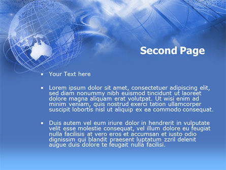 Global Communication PowerPoint Template, Slide 2, 00351, Abstract/Textures — PoweredTemplate.com