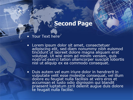 Telecommunication in Blue Color PowerPoint Template, Slide 2, 00352, Technology and Science — PoweredTemplate.com
