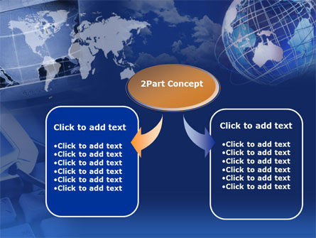 Telecommunication in Blue Color PowerPoint Template, Slide 4, 00352, Technology and Science — PoweredTemplate.com