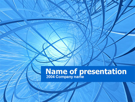Blue Wires PowerPoint Template