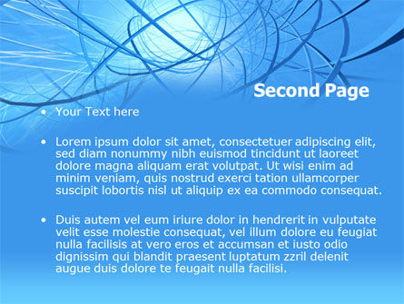 Blue Wires PowerPoint Template Slide 2