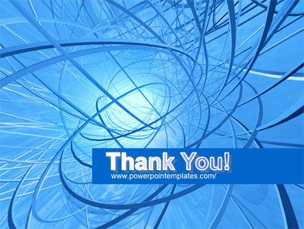 Blue Wires PowerPoint Template Slide 20
