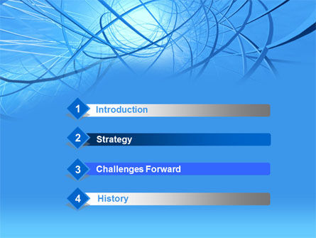 Blue Wires PowerPoint Template Slide 3