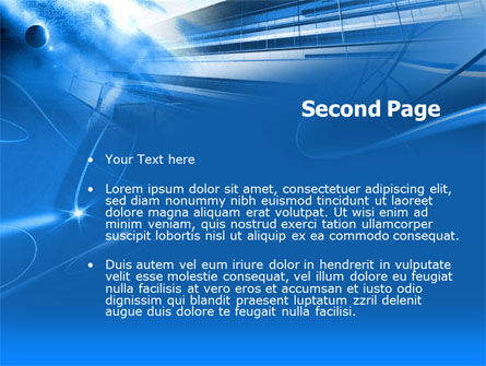 Blue Cable and Wires PowerPoint Template Slide 2