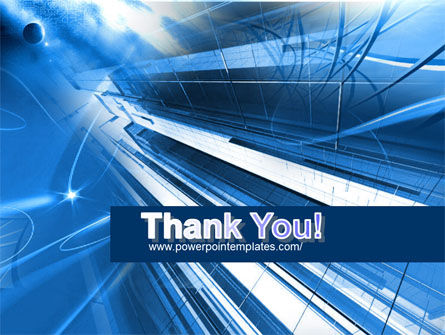 Blue Cable and Wires PowerPoint Template Slide 20