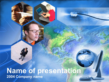 Telecommunication: Telecommunication Net PowerPoint Template #00356