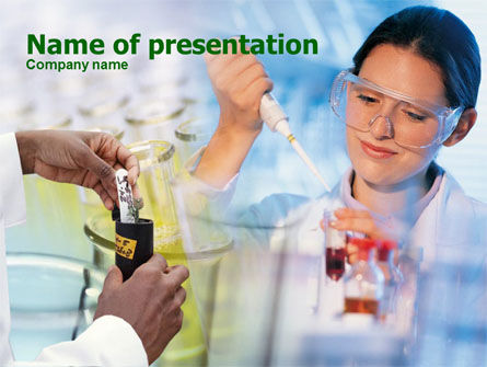 Laboratory Testing PowerPoint Template, 00357, Technology and Science — PoweredTemplate.com