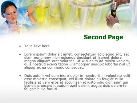 Laboratory Testing PowerPoint Template, Slide 2, 00357, Technology and Science — PoweredTemplate.com